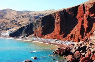 greece santorini akrotiri red beach