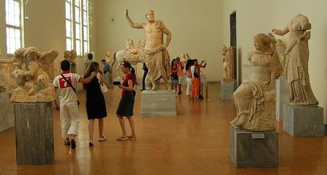 متحف الاثار الوطني بأثينا اليونان