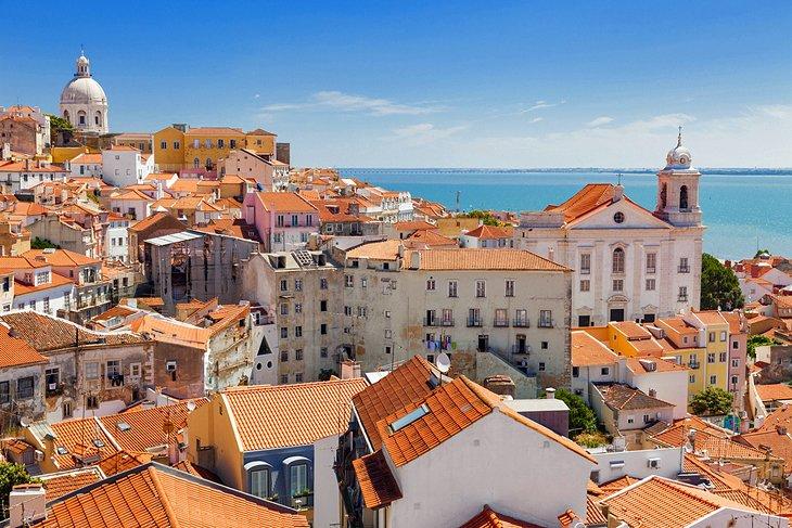 الطقس فى لشبونة حسب الشهر